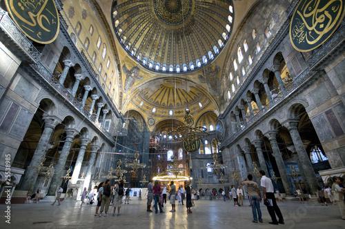 Foto op Canvas Turkije Hagia Sophia (Interior) Istanbul, Turkey