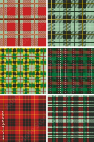 Photo  Scottish Plaid Tartan patterns