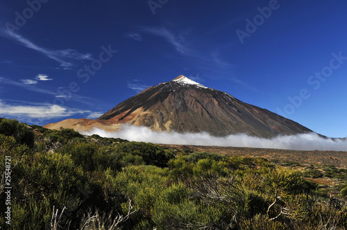 Recess Fitting Canary Islands Teide volcano from far