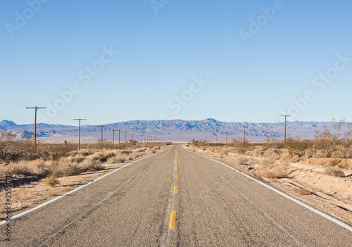 Wall Murals Route 66 Empty Desert Road