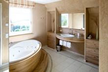Badezimmer, Holzhaus