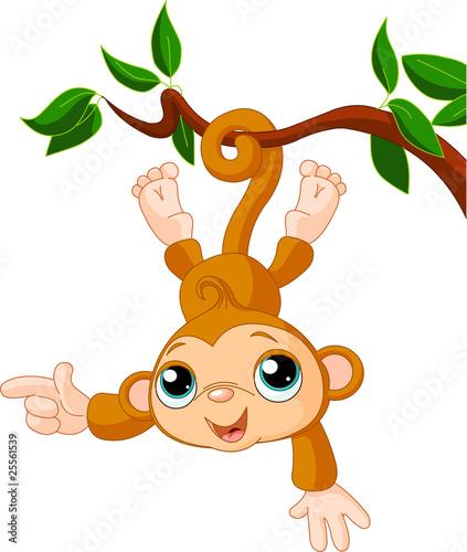 dziecko-malpa-na-drzewnym-seansie