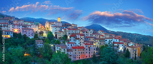 Panorama Blue Hour at Elba Island, Tuscany