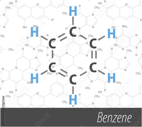 Set of chemistri orgnick formulas Canvas Print