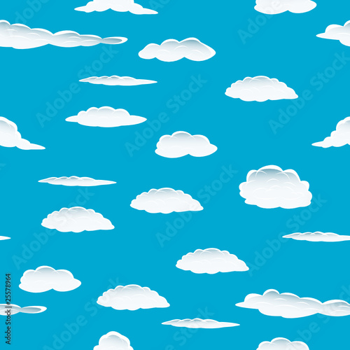 Poster Ciel seamless clouds
