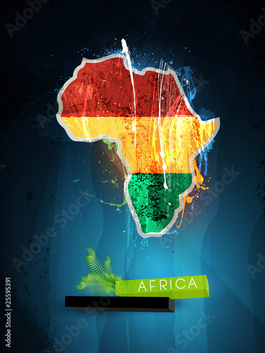 Photo  abstract illustration of the continent Africa