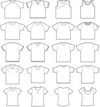 20 T-shirt Outline Templates F...
