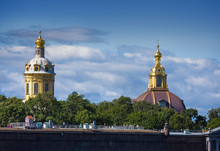 The Peter And Paul Fortress In Saint Petersburg