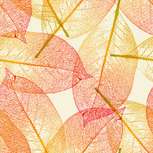 Seamlessly Tiling Autumn Leave...