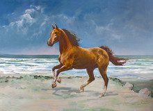 Chestnut Horse, Painting