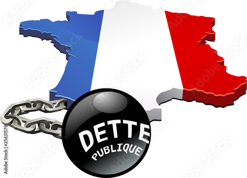 Poids de la dette publique française (détouré) Canvas Print