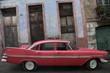 Vieille americaine devant le Capitole - Havane - Cuba