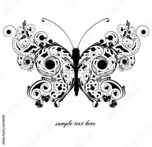 Foto op Canvas Vlinders in Grunge butterfly