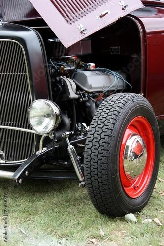 In de dag Vintage cars gros plan sur voiture antique