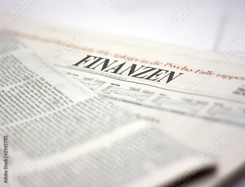 Foto op Canvas Kranten german newspaper finanzen