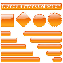 Orange Buttons Collection