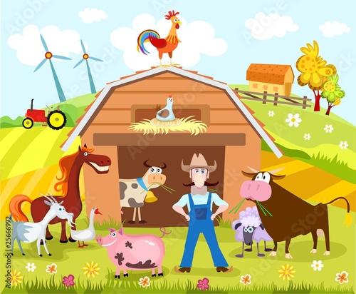 Wall Murals Ranch farm