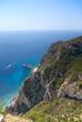 Sea cliff view, Corfu, Greece