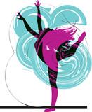 Acrobatic girl illustration - 25684541