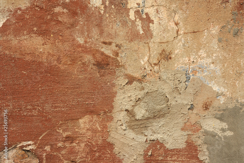 Poster Vieux mur texturé sale Red wall backgound