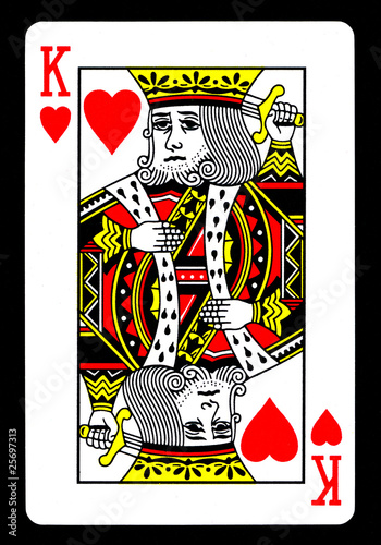 Tela King of Hearts Playing Card