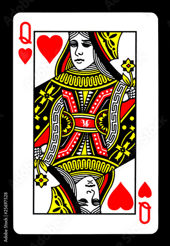 Tela Queen of Hearts Playing Card