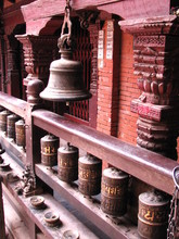 Nepal Prayer Wheels And Bell
