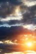 Sunset autumn sky clouds