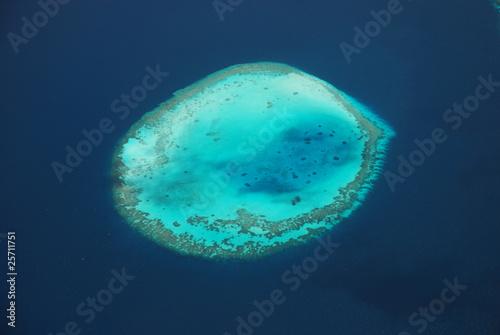 Photo Maldivian atoll