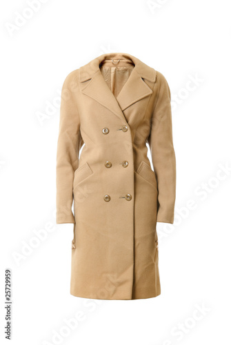 Fotografie, Obraz  Female wool overcoat | Isolated