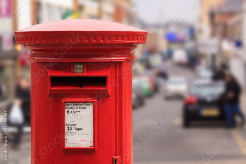 Canvas Print Red Post Box