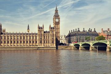 Fototapeta na wymiar Houses of Parliament, London.