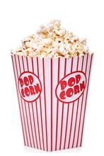 Box Of Red And White Popcorn Box