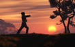 canvas print picture - Tai Chi in the Morning