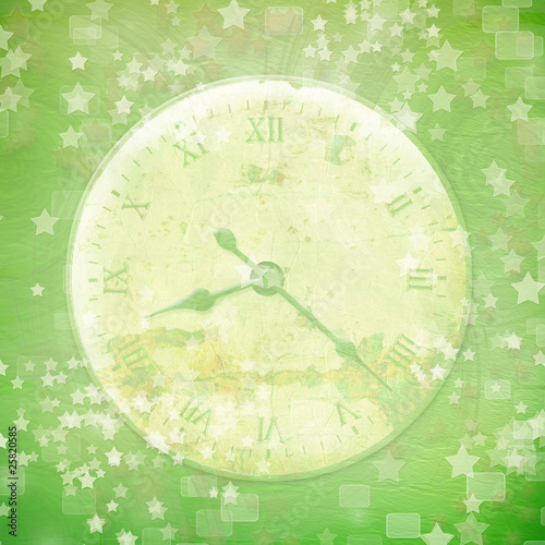 Fotografie, Obraz  Antique clock face with star on the abstract background