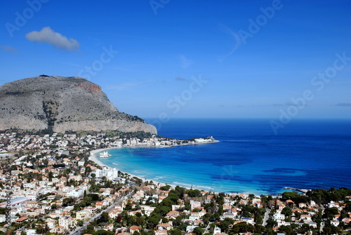 Photo sur Toile Palerme Mondello dall'alto