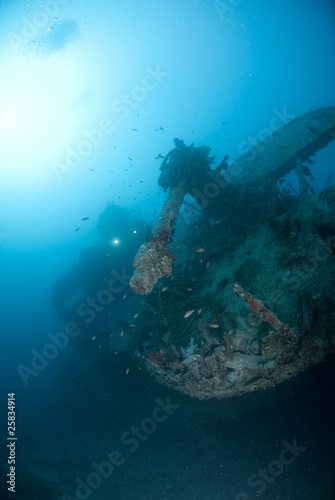 Photo Stands Shipwreck Stern of the SS Thistlegorm