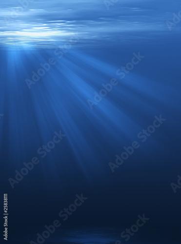Resplandor bajo el mar Canvas Print