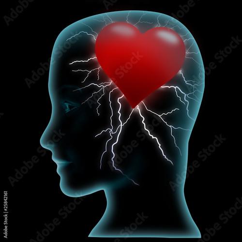 Fotografie, Obraz  Head and heart