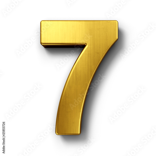 Poster  The number 7 in gold