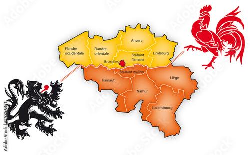 Carte Belgique Eps.Carte Belgique Separation Buy This Stock Vector And