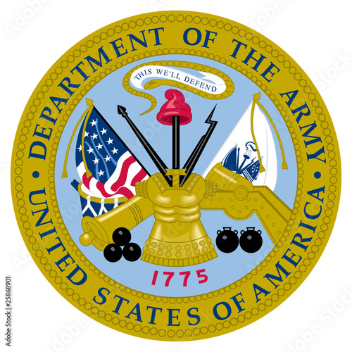 United States Army Seal Canvas Print