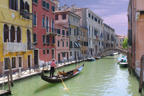 Staande foto Venice Gondoliere a Venezia