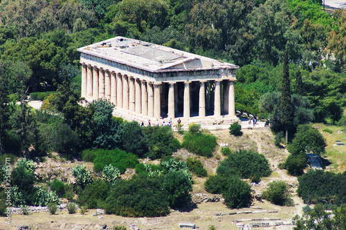 Photo  Temple Teseyon in Athens, Greece