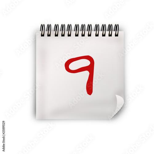 Calendario Giorno.Calendario Giorno 9 Buy This Stock Illustration And