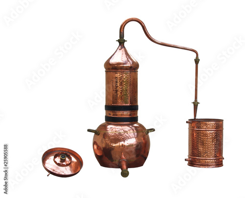 Photo alcohol distillery - alembic copper