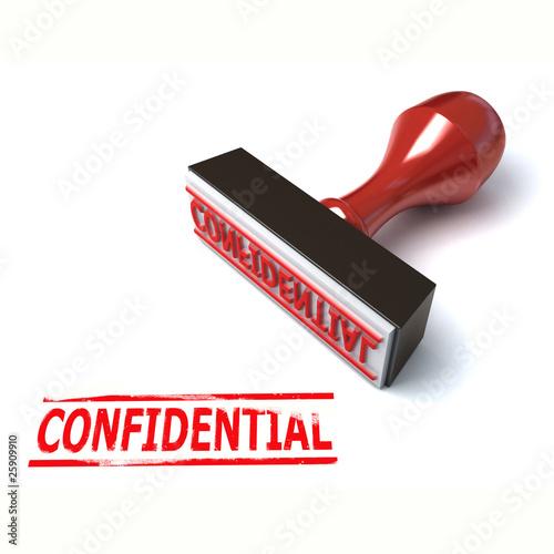 Fotografía  3d stamp confidential