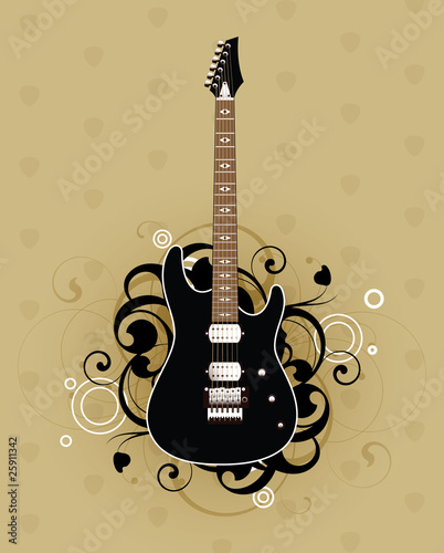Abstract with electric guitar