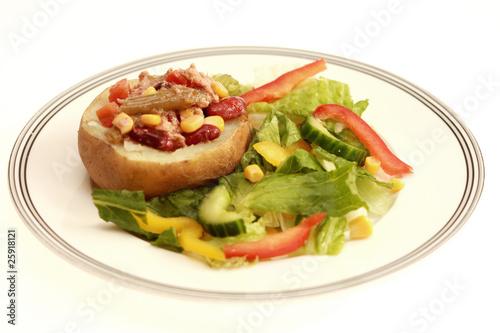 Jacket Potato With Tuna And Mixed Bean Salad Buy This