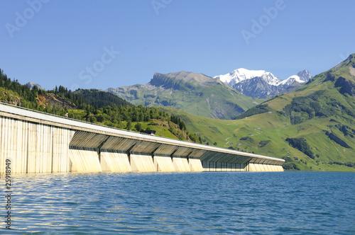 Deurstickers Dam barrage de Roselend